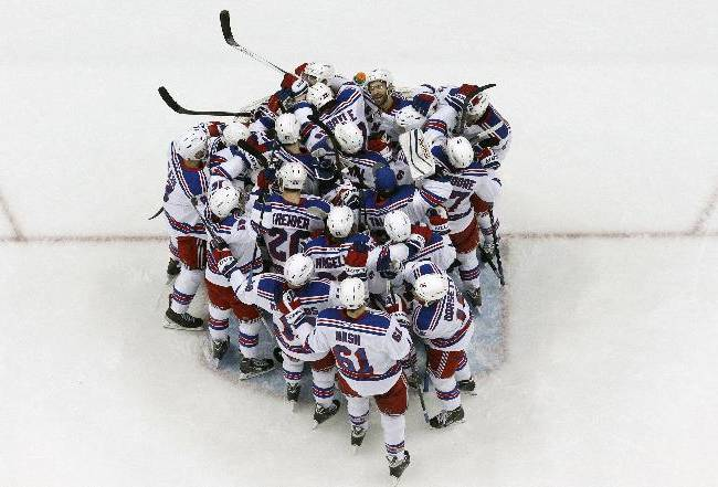 Rangers ride Lundqvist to conference finals