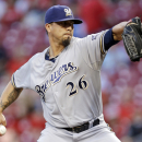 Lohse throws 2-hitter, Brewers beat Reds 5-0 The Associated Press