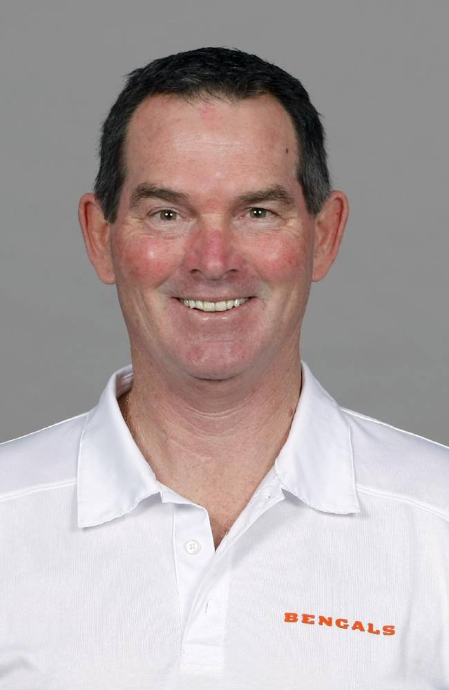 This is a 2013 file photo showing Mike Zimmer of the Cincinnati Bengals NFL football team. The Minnesota Vikings have chosen  Zimmer as their new head coach, according to multiple media reports. Zimmer will replace Leslie Frazier, who was fired after the team finished 5-10-1 this season