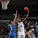 MEMPHIS, TN - JANUARY 26: Zach Randolph #50 of the Memphis Grizzlies takes a shot agianst the Orlando Magic on January 26, 2015 at FedExForum in Memphis, Tennessee. (Photo by Joe Murphy/NBAE via Getty Images)