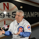The Chicago Cubs' new manager Rick Renteria speaks on camera after a press conference at Wrigley Field in Chicago, Thursday, Dec., 5, 2013. Renteria met with the media for the first time since he was hired last month, while recuperating in San Diego from