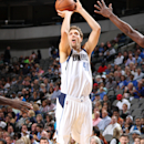 DALLAS, TX - OCTOBER 20: Dirk Nowitzki #41 of the Dallas Mavericks shoots a jumper against the Memphis Grizzlies on October 20, 2014 at the American Airlines Center in Dallas, Texas. (Photo by Danny Bollinger/NBAE via Getty Images)