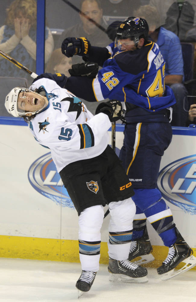 Sharks stay unbeaten with 6-2 win over Blues