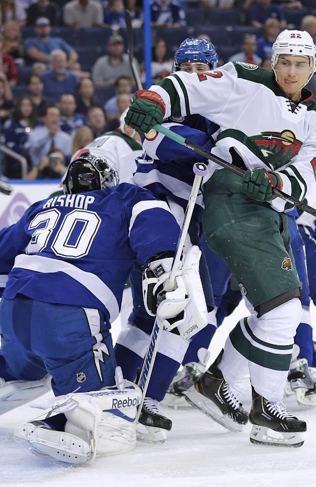Stamkos scores in 3rd, Lightning beat Wild 3-1