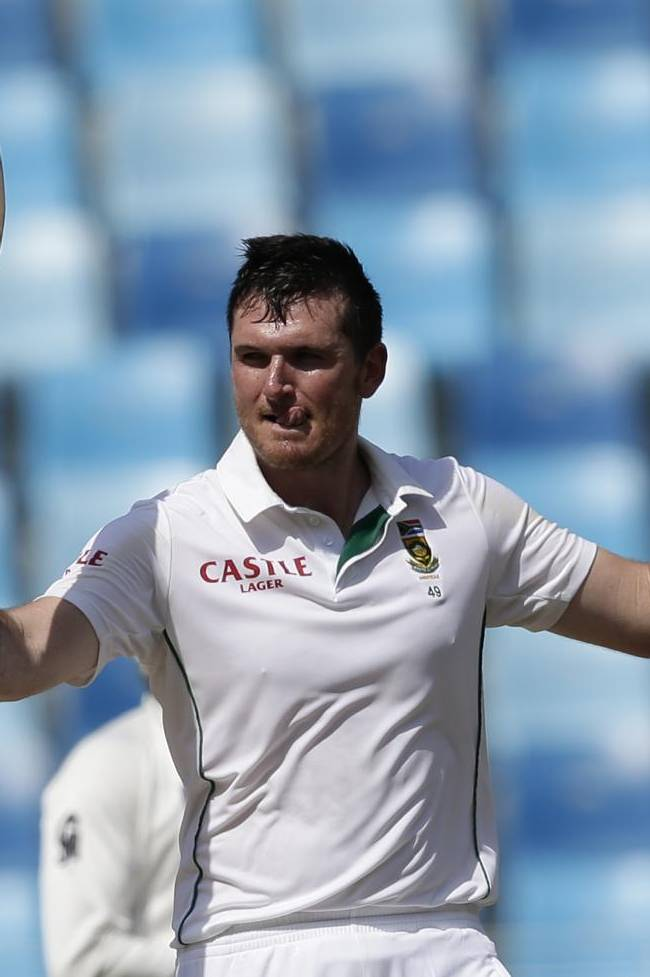 Graeme Smith, captain of South Africa celebrates after scoring a century on the second day of the second cricket test match of a two match series between Pakistan and South Africa at the Dubai International Cricket Stadium in Dubai, United Arab Emirates, Thursday, Oct. 24, 2013