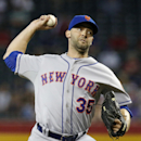 New York Mets' Dillon Gee throws a pitch against the Arizona Diamondbacks during the first inning of the MLB National League baseball game on Wednesday, April 16, 2014, in Phoenix The Associated Press