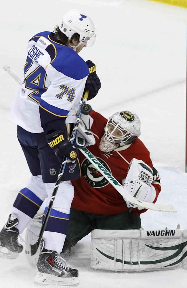 Curry, Wild extend Blues' slide with 4-2 win