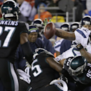 Seattle Seahawks' Marshawn Lynch fumbles the ball during the second half of an NFL football game against the Philadelphia Eagles, Sunday, Dec. 7, 2014, in Philadelphia The Associated Press