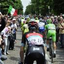 The pack pedals at the start of the 17th stage of the Giro d'Italia, Tour of Italy cycling race, in Caravaggio, Italy, Tuesday, May 22, 2013. (AP Photo/Gian Mattia D'Alberto)