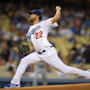 Los Angeles Dodgers starting pitcher Clayton Kershaw throws to the plate during the first inning of a baseball game against the San Diego Padres, Monday, Sept. 8, 2014, in Los Angeles. (AP Photo/Mark J. Terrill)