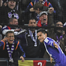 Anderlecht's Andy Najar celebrates scoring 1-0 during the Group D Champions League match between Anderlecht and Arsenal at Constant Vanden Stock Stadium in Brussels, Belgium, Wednesday Oct. 22, 2014