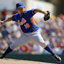 In this March 2, 2014 file photo, New York Mets starting pitcher Daisuke Matsuzaka throws during the first inning of an exhibition baseball game against the St. Louis Cardinals, in Jupiter, Fla. The Mets are bringing up Matsuzaka to replace John Lannan on