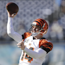 Cincinnati Bengals quarterback Andy Dalton warms up before facing the San Diego Chargers in an NFL football game on Sunday, Dec. 1, 2013, in San Diego The Associated Press