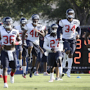 Houston Texans players stretch during an NFL football training camp practice Sunday, July 27, 2014, in Houston The Associated Press