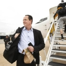Wichita State coach Gregg Marshall greets fans outside Yingling Aviation in Wichita, Kan., Wednesday, April 3, 2013, as he gets ready to board a charter flight to Atlanta where the Shockers will play in the NCAA college basketball tournament's Final Four. (AP Photo/The Wichita Eagle, Fernando Salazar)