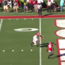 Tennessee's Jalen Hurd lit up while casually approaching the goal line (Video)