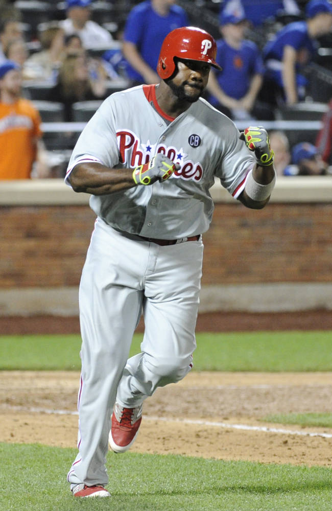Howard, Rollins lead Phillies past slumping Mets