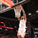 Terrence Jones #6 of the Houston Rockets dunks against the Detroit Pistons on March 1, 2014 at the Toyota Center in Houston, Texas. (Photo by Bill Baptist/NBAE via Getty Images)