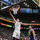 Hayward, Utah Jazz upset Golden State Warriors 110-100 The Associated Press