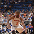 ORLANDO, FL - FEBRUARY 21: Raymond Felton #2 of the New York Knicks drives against the Orlando Magic on February 21, 2014 at Amway Center in Orlando, Florida. (Photo by Fernando Medina/NBAE via Getty Images)