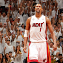 MIAMI, FL - JUNE 3: Chris Bosh #1 of the Miami Heat celebrates while playing the Indiana Pacers in Game Seven of the Eastern Conference Finals during the 2013 NBA Playoffs on June 3, 2013 at American Airlines Arena in Miami, Florida. (Photo by Issac Baldizon/NBAE via Getty Images)