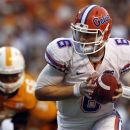 Florida quarterback Jeff Driskel (6) turns to hand the ball off in the second quarter of an NCAA college football game against the Tennessee on Saturday, Sept. 15, 2012, in Knoxville, Tenn. (AP Photo/Wade Payne)