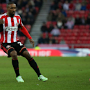 Sunderland's Jermain Defoe during their English FA Cup fourth round soccer match between Sunderland and Fulham at the Stadium of Light, Sunderland, England, Saturday, Jan. 24, 2015