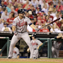 Atlanta Braves' Dan Uggla in baseball action against the Philadelphia Phillies in the second game of a baseball double-header Saturday, June 28, 2014, in Philadelphia The Associated Press