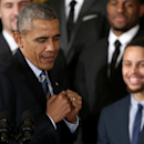 Obama Welcomes 2015 NBA Champion Golden State Warriors To White House Getty Images