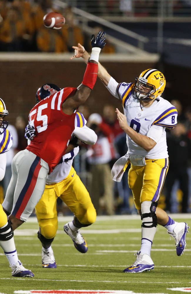 LSU falls to No. 13 after Mettenberger's off night