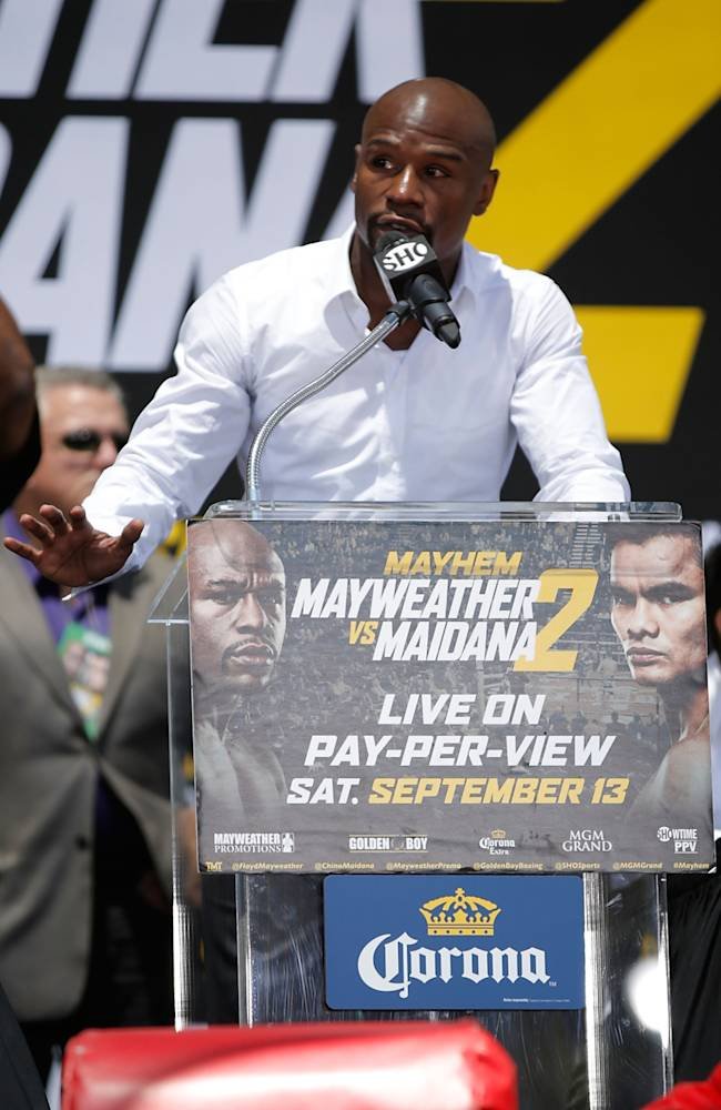 Floyd Mayweather Jr. v Marcos Maidana - Press Tour