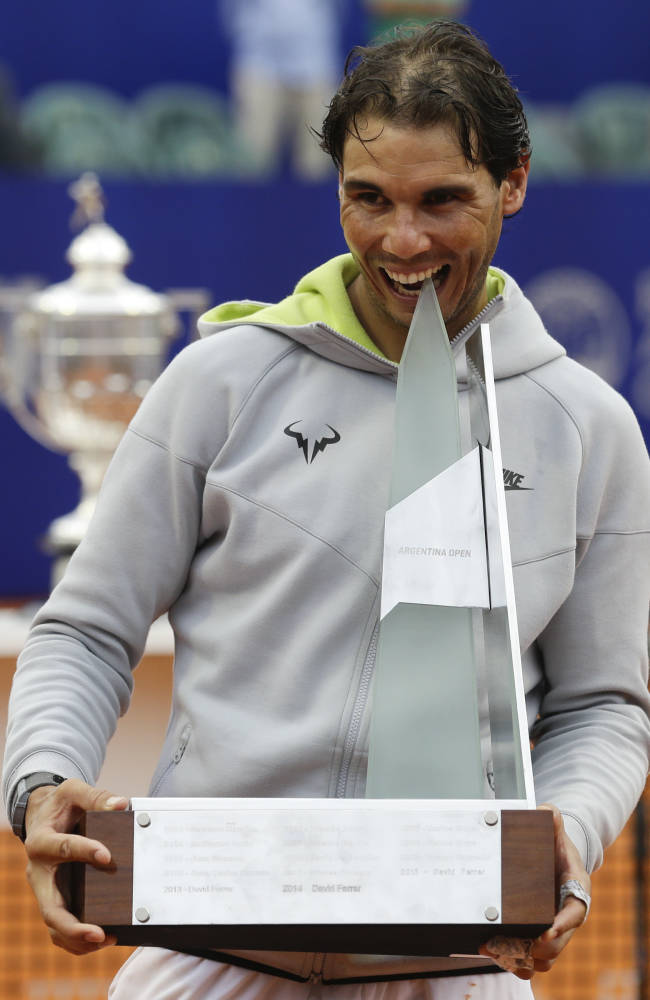 Nadal beats Monaco to win 1st title in nearly 9 months