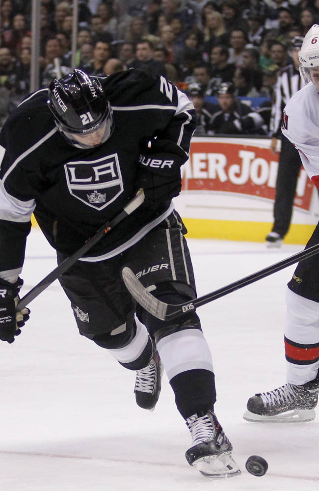 LA Kings blow big lead, but beat Ottawa 4-3 in OT