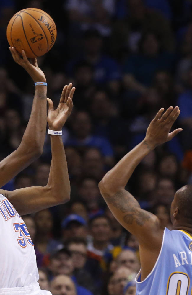 Durant scores 27, leads Thunder past Nuggets