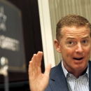 Dallas Cowboys head coach Jason Garrett explains his answer to a question as NFC football coaches meet with the media during the NFL's annual meeting, Wednesday, March 25, 2015, in Phoenix. (AP Photo/Ross D. Franklin)