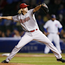Arizona Diamondbacks starting pitcher Bronson Arroyo delivers against the Chicago Cubs during the first inning of a baseball game on Monday, April 21, 2014, in Chicago The Associated Press