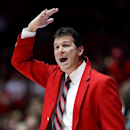 FILE - In this March 2, 2013, file photo, New Mexico head coach Steve Alford signals to his players during the first half of their NCAA college basketball game against Wyoming in Albuquerque, N.M. UCLA announced on Saturday, March 30, that Alford has been hired as the new men's basketball coach, luring him from New Mexico days after he signed a new 10-year deal with the Lobos. (AP Photo/Craig Fritz, File)