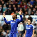 Chelsea's Didier Drogba celebrates his goal during their English Premier League soccer match against Newcastle United at St James' Park, Newcastle, England, Saturday, Dec. 6, 2014