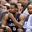 SAN ANTONIO, TX - MAY 21: Tony Allen #9 of the Memphis Grizzlies looks on from the bench while playing against the San Antonio Spurs in Game Two of the Western Conference Finals during the 2013 NBA Playoffs on May 21, 2013 at the AT&T Center in San Antonio, Texas