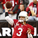 Arizona Cardinals quarterback Carson Palmer (3) warms up prior to an NFL football game against the St. Louis Rams, Sunday, Dec. 8, 2013, in Glendale, Ariz The Associated Press