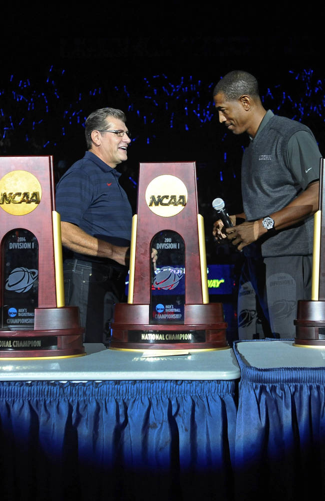 UConn unveils 2 more championship banners