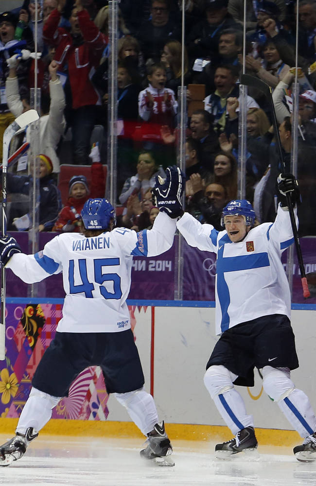 Finland routs US 5-0 for bronze in Olympic hockey