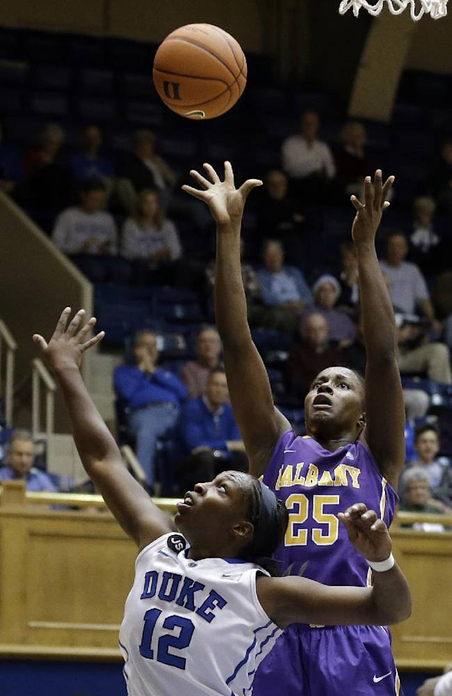 Peters leads No. 2 Duke women over Albany 80-51