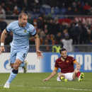 Manchester City's Pablo Zabaleta celebrates after scoring during a Group E Champions League soccer match between Roma and Manchester City at the Olympic stadium in Rome, Italy, Wednesday Dec.10, 2014