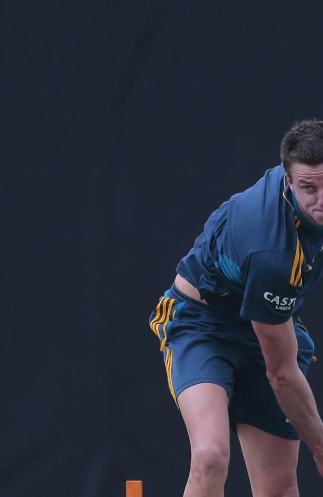South African bowler Morne Morkel delivers a ball during a training session before their warm up game against Sri Lanka Board XI in Moratuwa on the outskirts of Colombo, Sri Lanka, Thursday, July 3, 2014