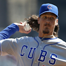 Chicago Cubs starting pitcher Jeff Samardzija throws in the second inning against the Pittsburgh Pirates during their opening day baseball game on Monday, March 31, 2014, in Pittsburgh The Associated Press