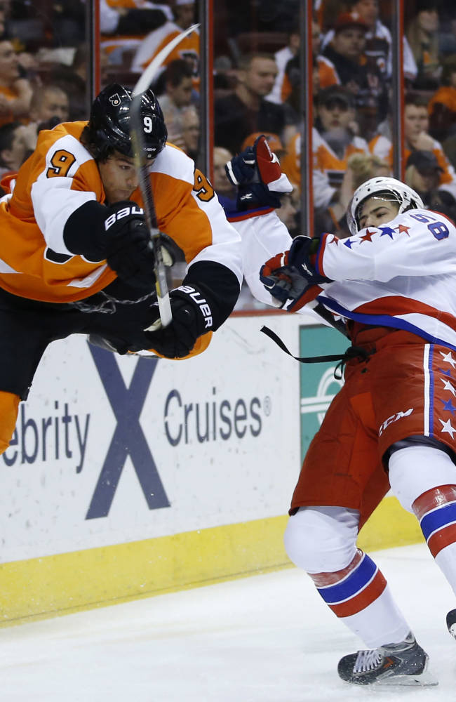 Giroux, Voracek lead Flyers past Capitals, 6-4