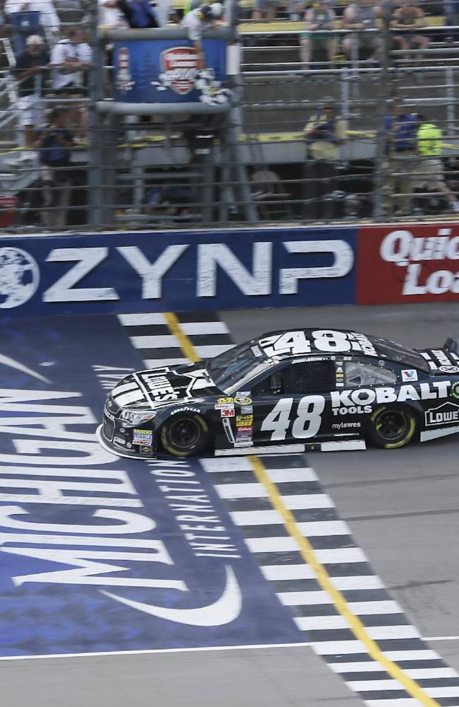 Jimmie Johnson finally wins at Michigan