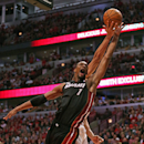 CHICAGO, IL - MAY 10: Chris Bosh #1 of the Miami Heat and Joakim Noah #13 of the Chicago Bulls battle for a rebound in Game Three of the Eastern Conference Semifinals during the 2013 NBA Playoffs at the United Center on May 10, 2013 in Chicago, Illinois. The Heat defeated the Bulls 104-94. (Photo by Jonathan Daniel/Getty Images)