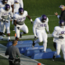 Minnesota Vikings defensive linemen participate in a drill during an NFL football training camp practice, Monday, July 28, 2014, in Mankato, Minn The Associated Press